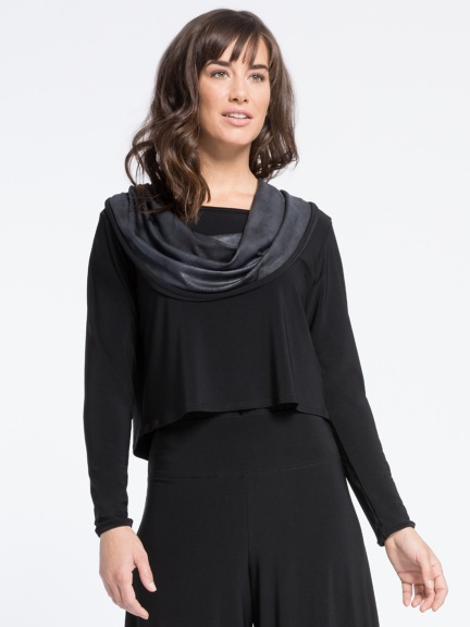 Storm Shorty Cowl Top by Sympli