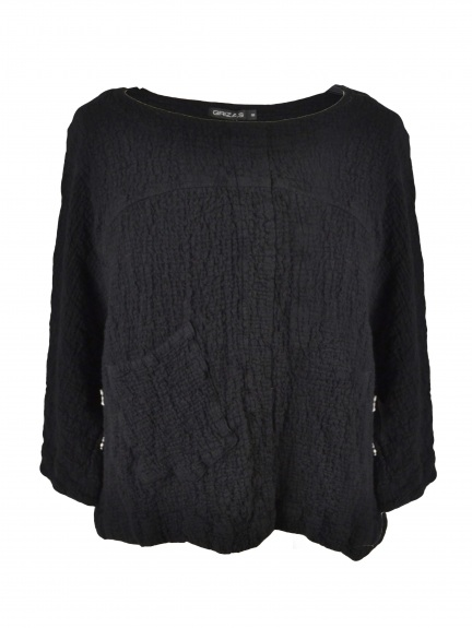 Texture Knit Pocket Top by Grizas