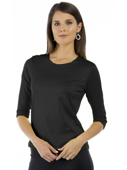 The 3/4 Sleeve Boxy Tee by A'nue Miami