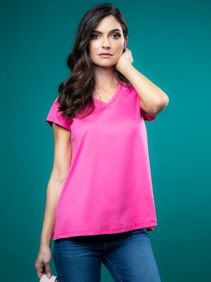 The A-Line Cap Sleeve Tee by A'nue Miami