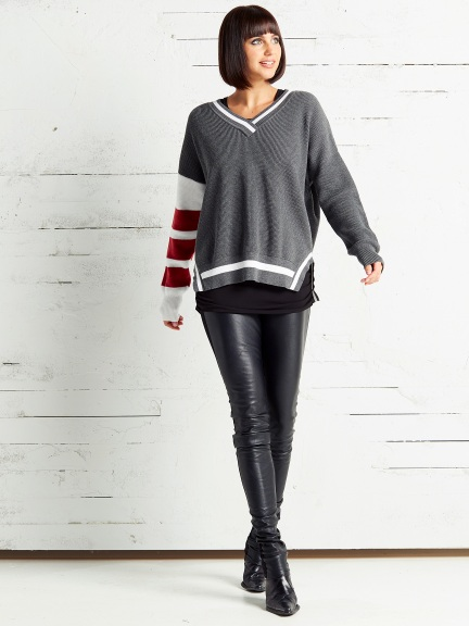 Thermal Varsity Sweater by Planet