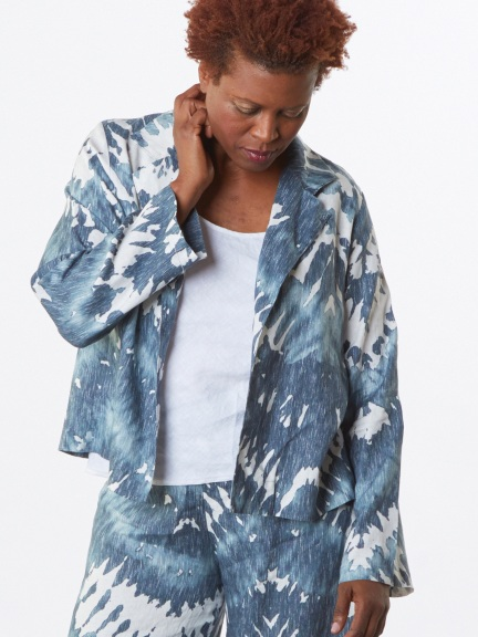 Tie Dye Linen Lewis Jacket by Bryn Walker
