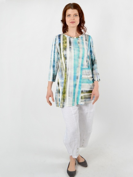 Tie Dye Pocket Top by Q'neel