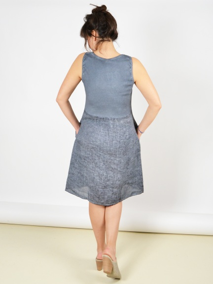 c01ffd0d91 Linen Patch Dress by Inizio at Hello Boutique