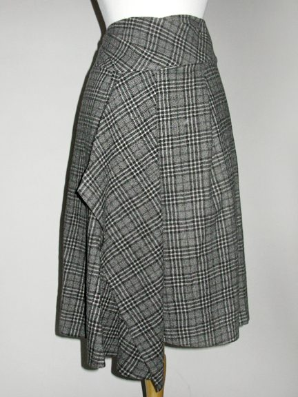 Wool Plaid Skirt by CREA CONCEPT at Hello Boutique